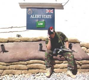 U.K. soldier uses the SkyNet 5