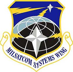 Milsatcom space wing logo